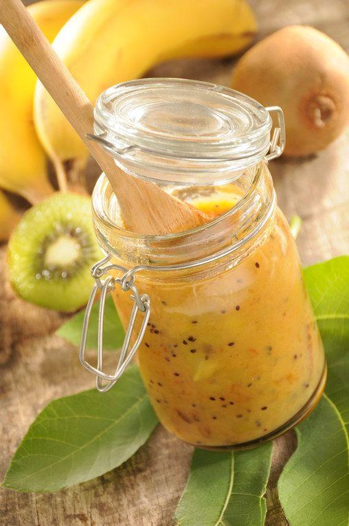 Confiture banane kiwi, voir la recette de la confiture banane kiwiComposer un petit-dejeuner bon et équilibré, c'est facile, suivez...