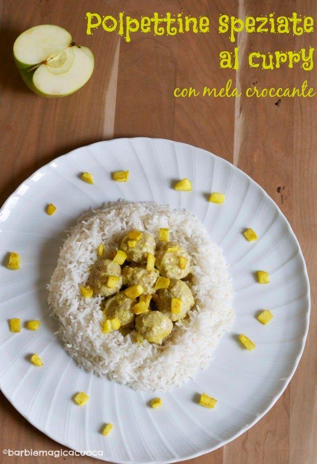 Polpettine speziate al curry con mela croccante | Barbie magica cuoca - blog di cucina