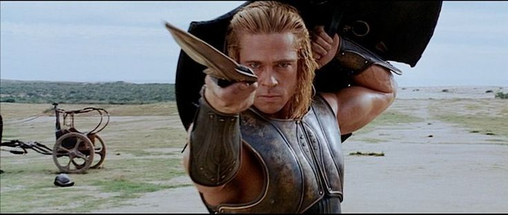 """Brad Pitt as """"Achilles"""" in the movie """"Troy""""."""