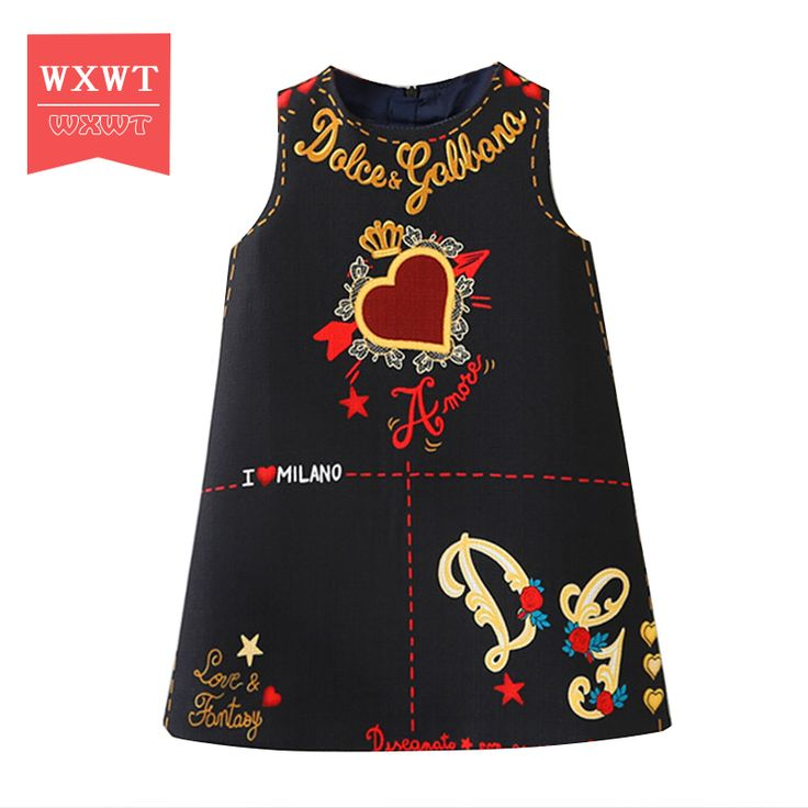 Cheap princess dress for girls, Buy Quality brand girl dress directly from China girls brand dress Suppliers: WXWT Baby Girls Dress Moana Clothes 2017 Brand Princess Dresses for Girls Letter Embroidered Kids Dress Children Clothing