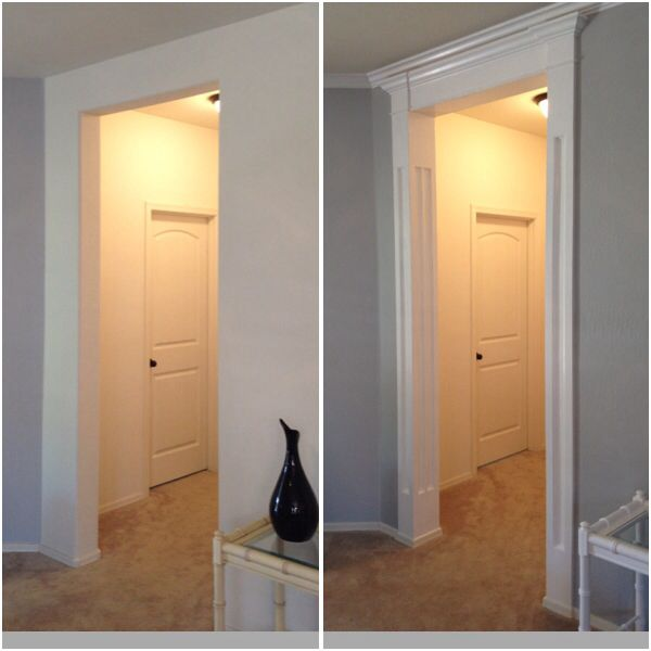 Foyer Door Trim : Entryway crown column molding my diys pinterest