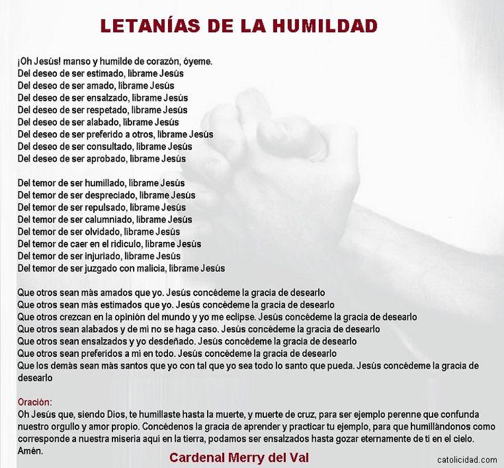 Catolicidad: LETANÍAS DE LA HUMILDAD