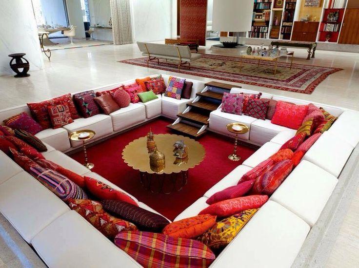 images about deco maison on Pinterest  Salon marocain, Salons and TVs