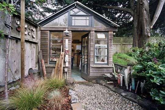 studio: Garden Sheds, House Tours, Backyard Sheds, Pottery Studio, Art Studios, Chicken Coops
