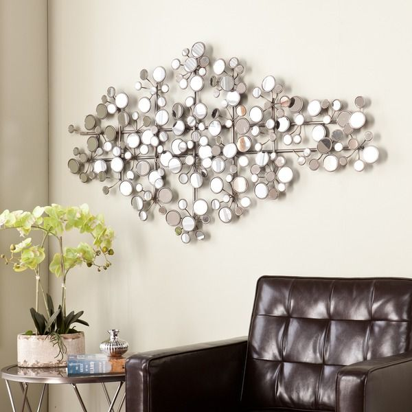 Add Interest And Texture To A Bare Wall With This Unique Flat Mirror Wall  Sculpture! Part 52