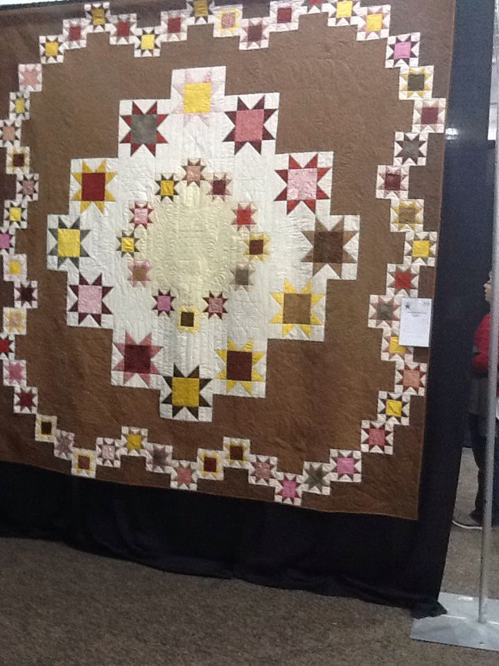 This was a very large quilt. Lots of stars.