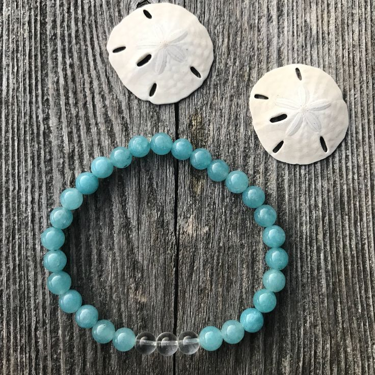Aqua Jade and Clear Quartz Wellness Bracelet by VitaminSeaJPS on Etsy https://www.etsy.com/ca/listing/560555642/aqua-jade-and-clear-quartz-wellness