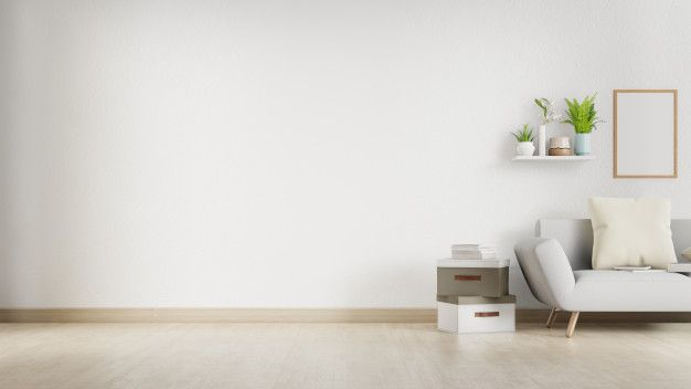 Interior Living Room With White Sofa And Blank Wall With Copyspace 3d Rendering In 2021 Living Room Interior Empty Rooms Interior White Paneling