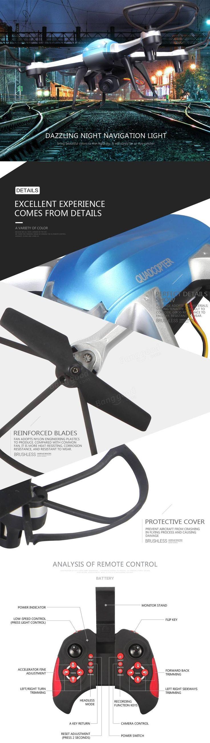 Eachine H99D 3MP 120° Wide-Angle HD Camera 2.4G 6 Axis Headless Mode RC Quadcopter RTF Sale - Banggood.com