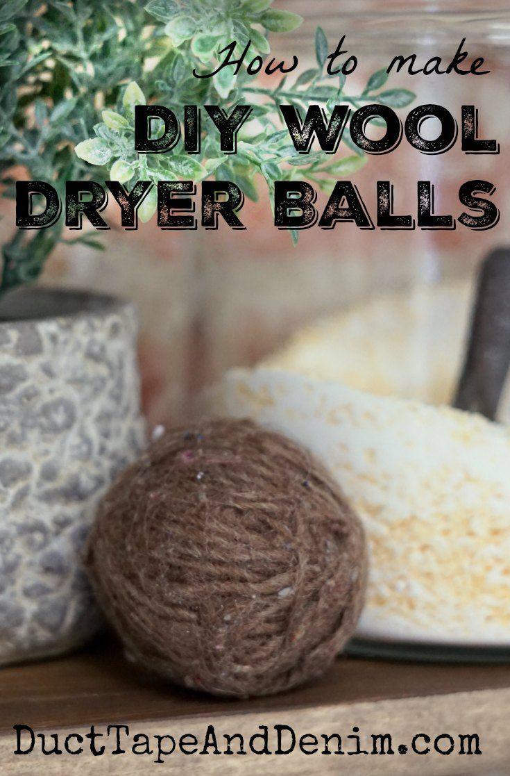 How to make DIY wool dryer balls | http://DuctTapeAndDenim.com