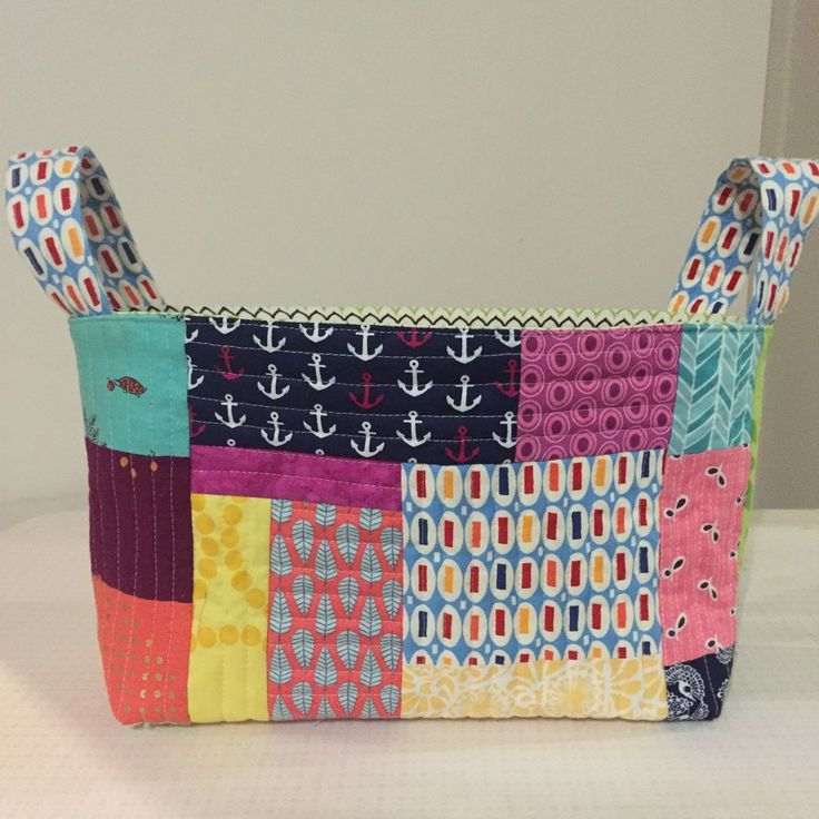 Sew Delicious, One hour basket, scraps, quilt as you go