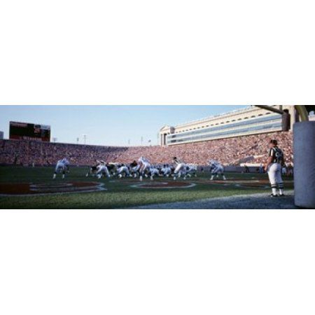 Football Game Soldier Field Chicago Illinois USA Canvas Art - Panoramic Images (36 x 12)