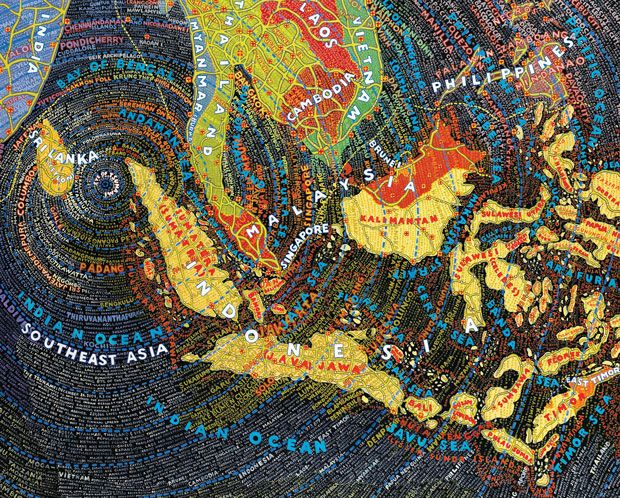 Stunning Subjectivity: Paula Scher's Obsessive Hand-Painted Maps   Brain Pickings