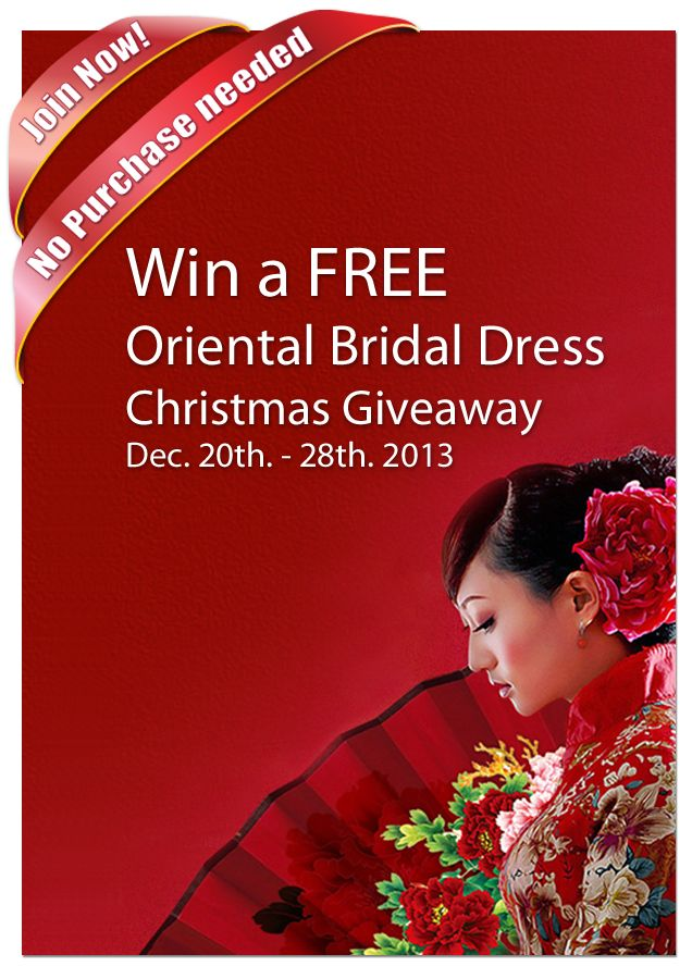 17 best images about oriental bridal dress on pinterest for Win free wedding dress