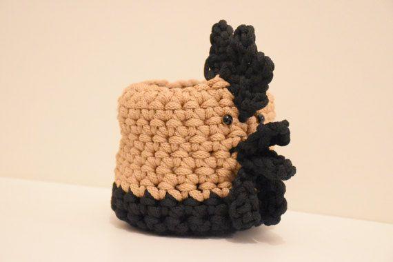 Crochet Easter basket Rooster Storage basket  Desk organizer