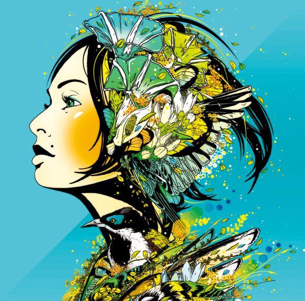 """DJ Okawari CD cover by MIRUMAgraph: """"mirror"""""""
