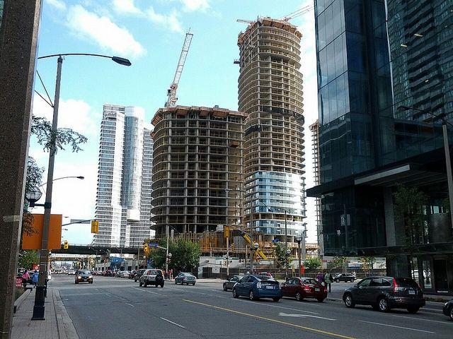 ICE Condo Development Under Construction in Toronto at York and Bremner