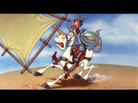 Don Quijote fights the windmills