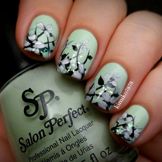 The colours actually blend very well together,  I like the mint green base. #nail #nails #nailart