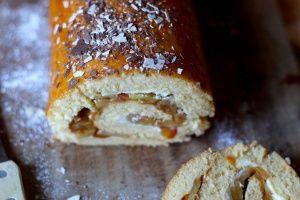 Recette du gâteau roulé aux pommes caramélisées