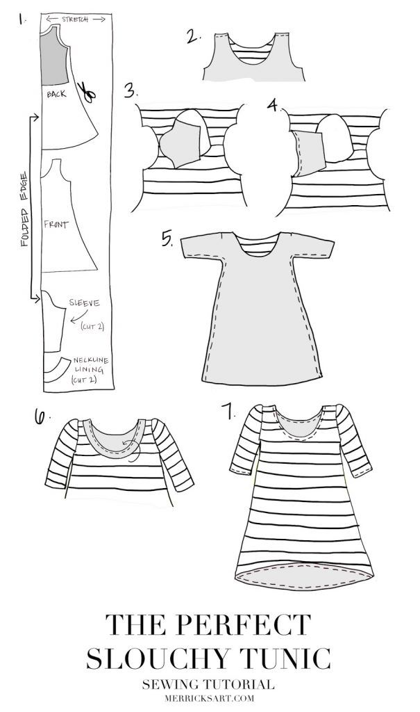 Merrick's Art // Style + Sewing for the Everyday Girl : DIY FRIDAY: THE PERFECT SLOUCHY TUNIC [SEWING TUTORIAL]