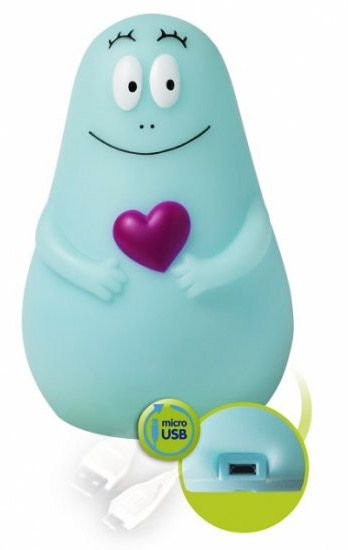 Een barbapapa nachtlampje welke je mee kan nemen in bed helemaal leuk het bevat een veilig led - Deco kamer bebe blauw ...