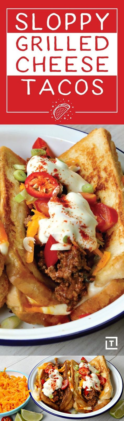 Sloppy Grilled Cheese Taco