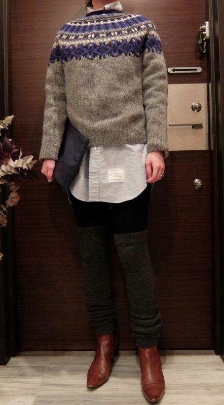 ÖKO's Coordinate Blog   THOM BROWNE shirt × American apparel leg warmer