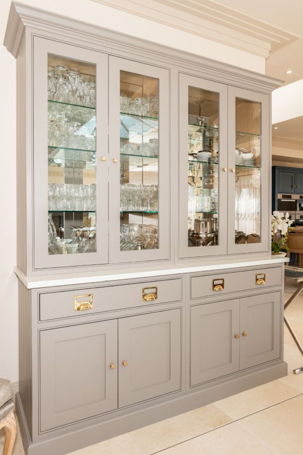 A Stand Alone Dresser With Glass Door, Kitchen Unit Display Cabinet