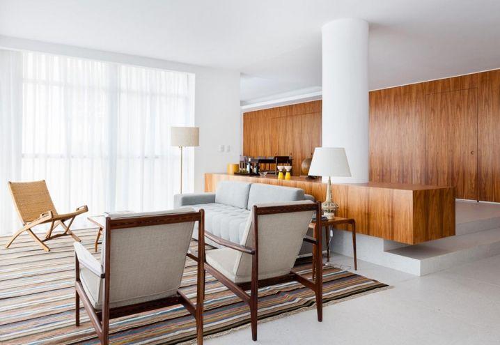 Total white and vintage style for this flat in Brazil / Tutto bianco e arredi vintage per questo appartamento in Brasile