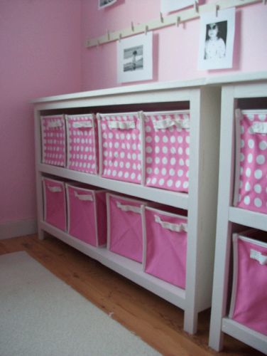 """I want to make this!  DIY Furniture Plan from Ana-White.com  If you need storage bad in your home, but have the tinest of budgets, this plan is for you. Smartly designed, you can get exactly two bookshelves from one sheet of 3/4"""" plywood or MDF. With some simple 1x2 trim and standard baskets or bins, a simple bookshelf can become a stylish storage center."""