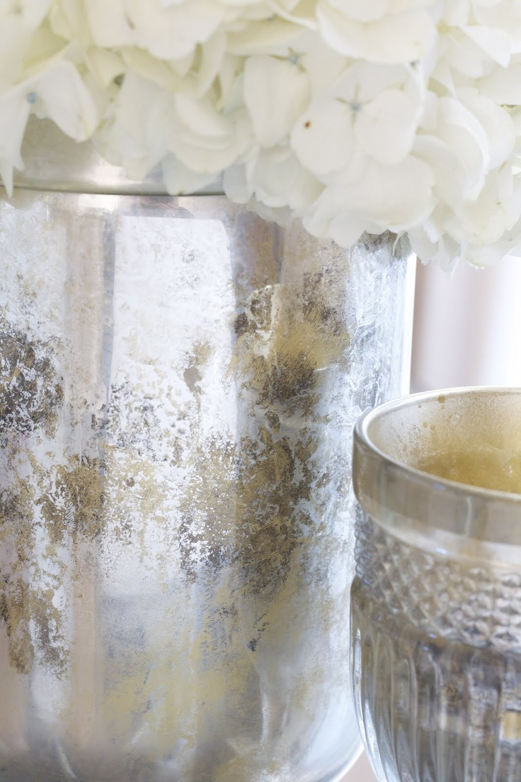 Chic Crafts: Antique Silvered Vase ~ Craft and Couture