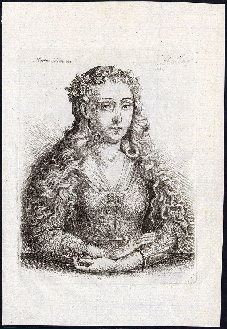 Hollar, Wenceslas (after Martin Schon) - Portrait of a Lady, 17th. century.