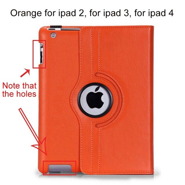 for Apple iPad 2 iPad 3 iPad 4 Case 360 Rotating Leather Stand Screen Protector+Stylus Cover for iPad 2 3 4 / Mini 1 2 3 / Air 2