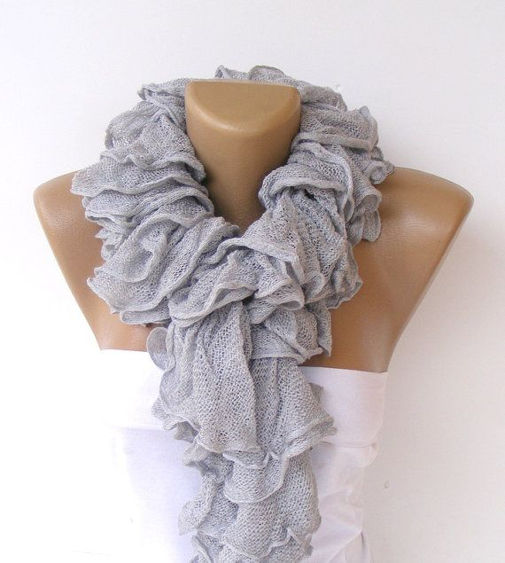 ruffle scarfknit scarvesNew Trend 2013Cotton scarfknitting by seno, $25.00