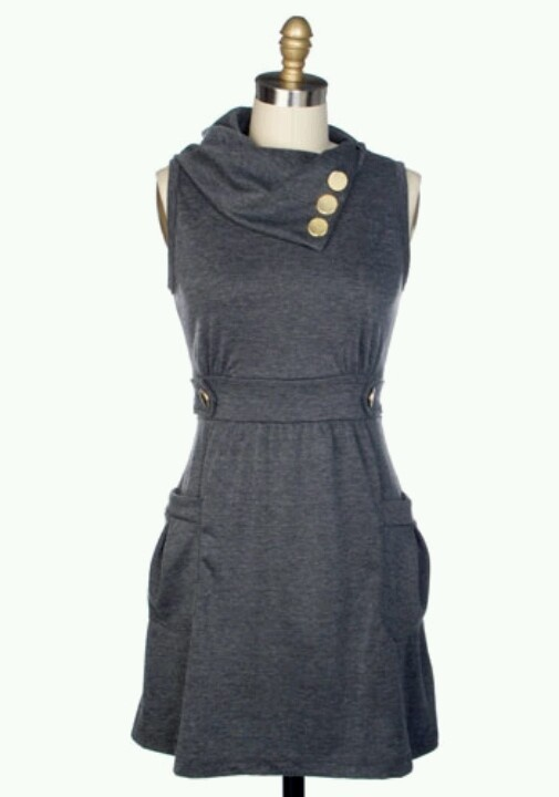 Grey modcloth dress