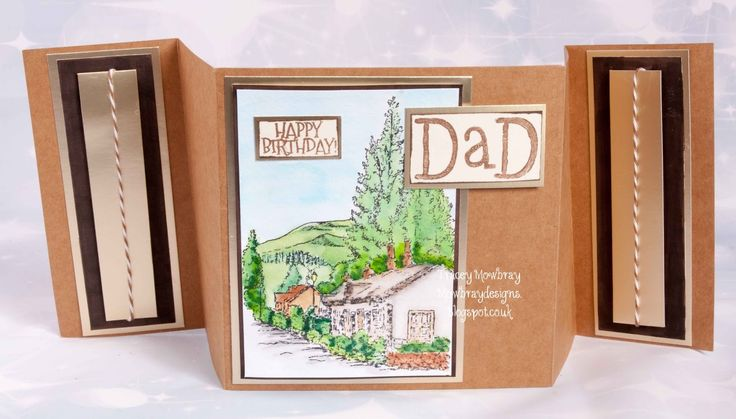 Happy Wednesday This is a card for my Father in Law Birthday this week. I have used one of Sheena Douglas stamp for thi...