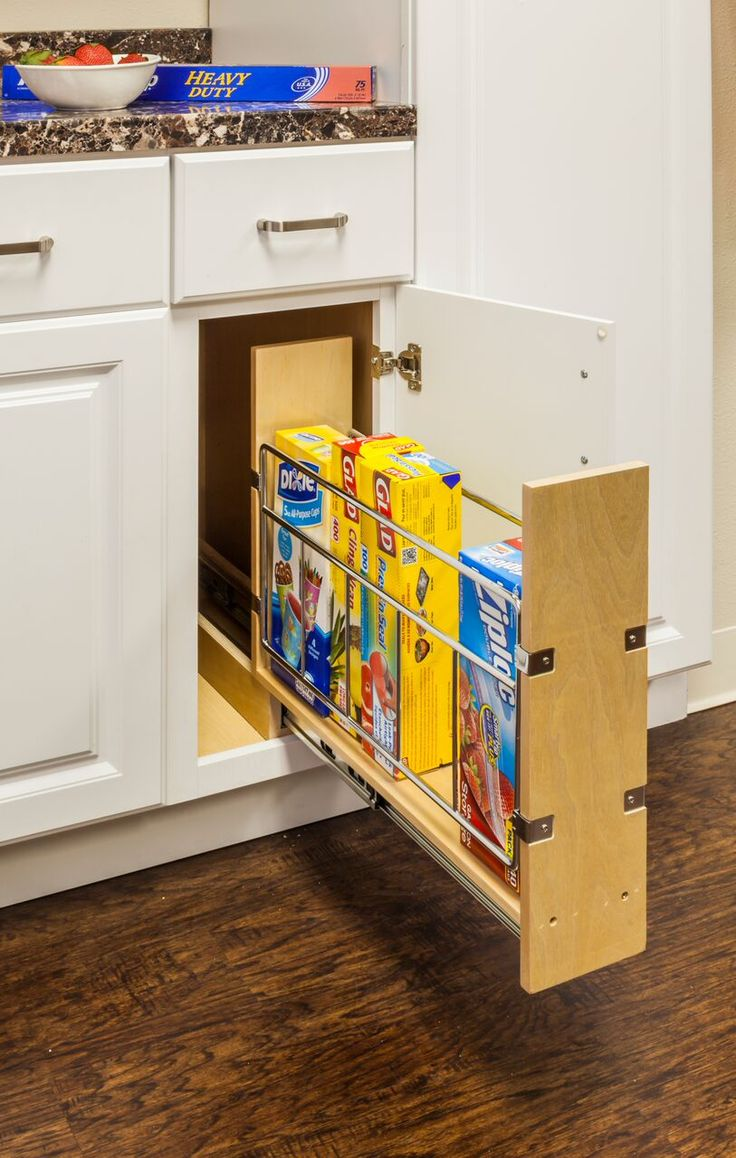 Kitchen cabinets full extension drawers - Base Cabinet Pull Out 5 With Built In Tray Divider 5