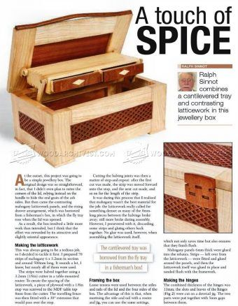 #1346 Jewellery Box Plan - Other Woodworking Plans and Projects                                                                                                                                                                                 More