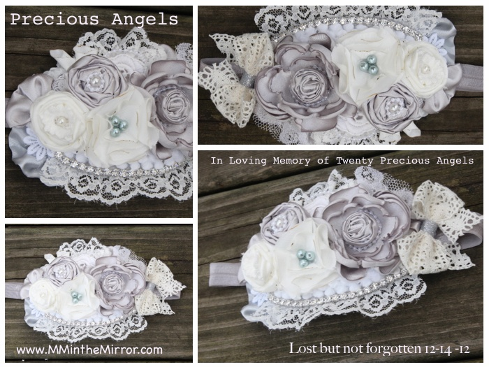 """My customer who purchased this piece, shared it on one of the memorial pages set up, for a child who lost their life in the Sandy Hook tragedy.The mother saw my headband and asked my customer if she could have me contact her. Well I did, and last night I got the most amazing response it brought tears to my eyes and had me shaking in disbelief.  She said """"I don't know what else to say besides you are so gifted and thank you, your piece touched my heart"""" I feel honored and my heart is full of…"""