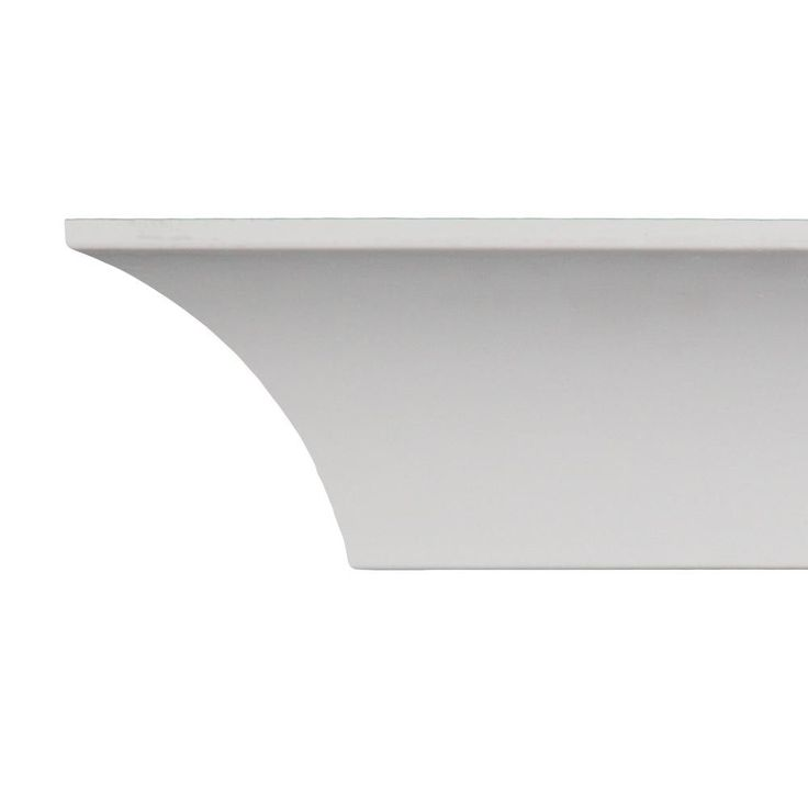 3.5-inch Cove Crown Molding (Pack of 8), White