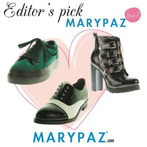 MARYPAZ loves   #editor'spick #personalshopper #newcollection #algoestapasandoenMARYPAZ #OI14 Shop at ► http://www.marypaz.com/tienda-online/blucher-tipo-masculino-con-tachuelas.html?sku=69639-42 Shop at ► http://www.marypaz.com/tienda-online/crippers-con-cordones-24730.html?sku=69698-42 Shop at ► http://www.marypaz.com/tienda-online/botin-de-tacon-y-plataforma-oculta-con-hebillas.html?sku=70121 ¿Cuál es tu favorito ?