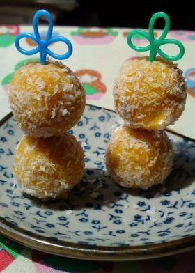 「かぼちゃのココナッツトリュフ風」MAHO堂 | お菓子・パンのレシピや作り方【corecle*コレクル】