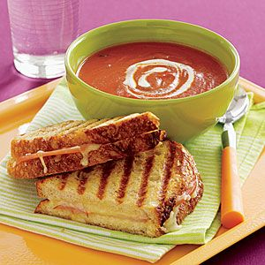 Getting ready for April as it is National Grilled Cheese Month - Tomato Soup and Grilled Cheese: Tomato Soups, Happy National, Minestrone Soup, National Grilled, Cheese Sandwich, Comfort Food, Delicious Recipes, Grilled Cheeses, Cheese Recipes