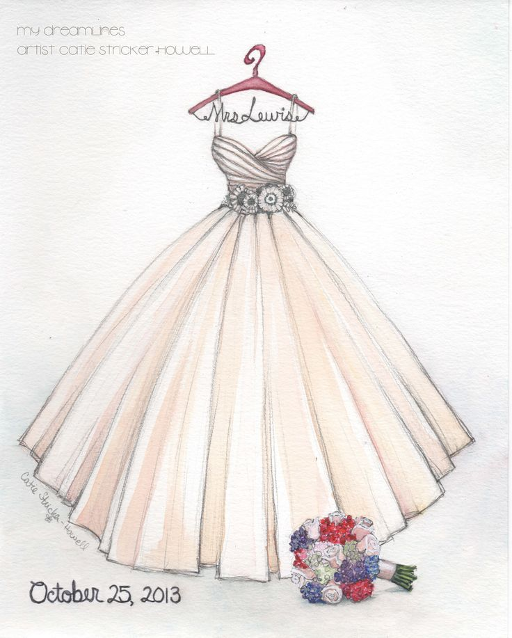 sketched this larzaro gown for a bride love this fun