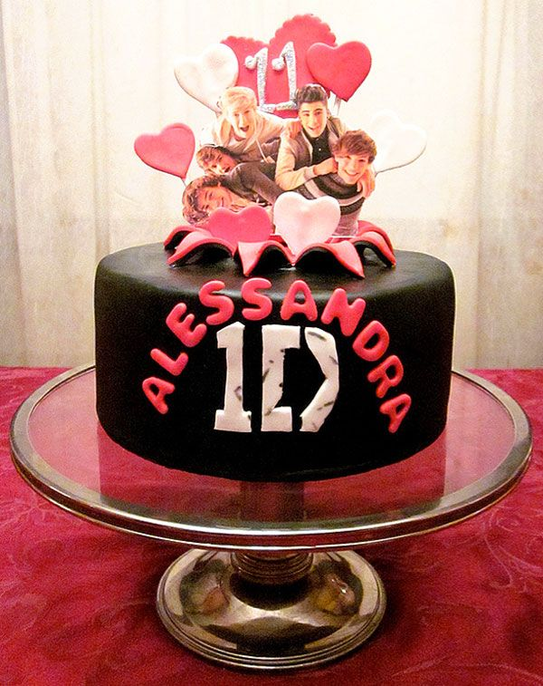 one direction girl cakes | 18. Pretty in pink: One Direction birthday cake for girls