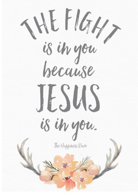 The fight is in you because Jesus is in you.