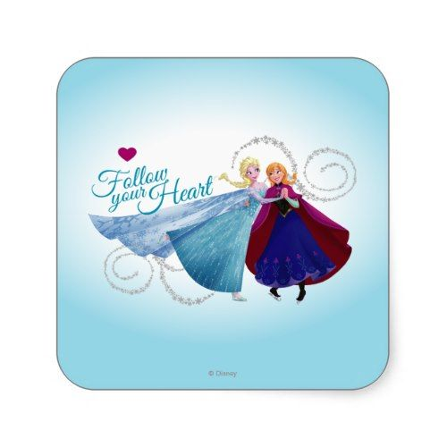 Follow Your Heart Sticker  Princess  Elsa and Anna Products from Disney Frozen  https://www.artdecoportrait.com/product/follow-your-heart-sticker/  #frozen #disney #Elsa #Anna #SnowQueen #disneyprincess #gift #birthday #princess   More cool Disney Princess Gifts Ideas at www.artdecoportrait.com/shop