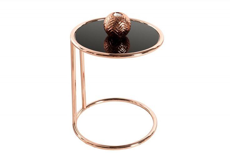 Cooper Table, miedziany stolik, design