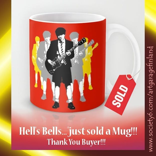 Sold!!!..thanks to the buyer of this 'Taking the Lead' pop-art mug design from my Society6 webshop . . #society6 #sold #mugoftheday #mugshot #shareyoursociety6 #acdcfans #angus #popart #thankyou #giftideas #musicfan #rock #angusyoung #acdc #guitarists #rocklegends #art #design #highwaytohell #art #artist #artcollection